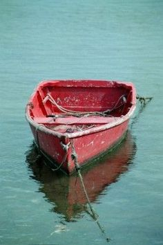 Items similar to Nantucket Harbor Red Wooden Anchored Boat Dinghy (New England East Coast Island) Nautical Harbour Beach Cottage Life Rene Marie Photography on Etsy Old Boats, Small Boats, Photography Beach, Harbor Beach, Boat Art, Boat Painting, Wooden Boats, Beach Cottages, Fishing Boats