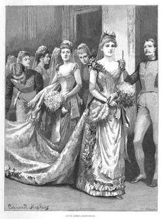 Debutante en el palacio de Buckingham
