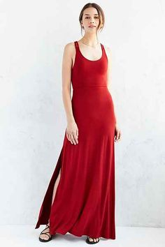 Ecote Braided Strap Knit Maxi Dress - Urban Outfitters