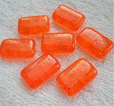 Korálky - Praskačky 12x19mm-oranž-1ks - 3704657