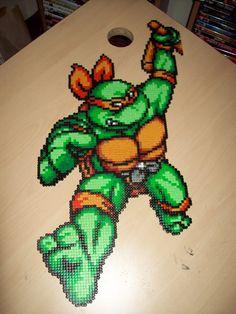 Teenage Mutant Ninja Turtles Large Michelangello TMNT Hama Perler Beads