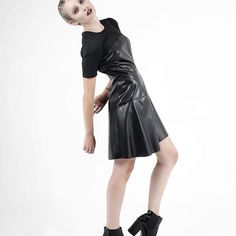 •ecoleather dress•  #new#dress#black#eco#leather#madeinitaly#collection#fw15 Fall Winter 2015, Dress Black, Leather Skirt, Campaign, Skirts, Collection, Dresses, Fashion, Vestidos