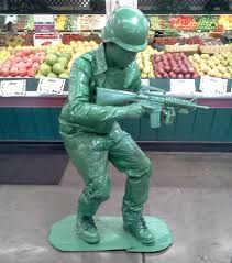 my friend harrison jones went to town on his green army man costume for halloween and nailed the classic icon