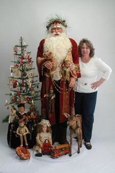 OOAK Life Size Handmade Victorian Inspired Old World Santa