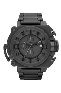 DIESEL® 'SBA' Large Round Chronograph Bracelet Watch