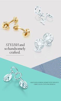 Tiffany's crisp, clean cuff link designs.