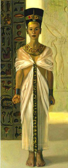 by ~Damnans on DeviantART. Nefertiti, fine art, painting, portraits