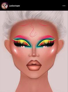Makeup Eye Looks, Eye Makeup Art, Pretty Makeup, Eyeshadow Makeup, Makeup Inspiration, Makeup Inspo, Eyeshadow Designs, Makeup Face Charts, Rave Makeup