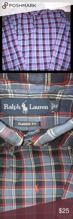 Men's Ralph Lauren Classic Fit Button Down - S You are looking at a EUC Men's Ralph Lauren plaid button down...this is a classic fit Small. This shirt is a little thicker, so best for fall or winter months, but not too thick that you couldn't wear it all year round. No stains, rips, etc. Great shirt and great colors! If you have any questions please feel free to ask! Thanks! 😎 Ralph Lauren Shirts Casual Button Down Shirts