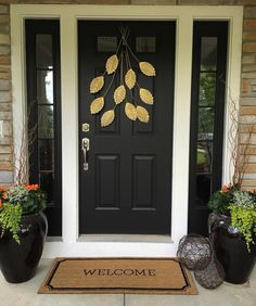 27 Pictures of Black Front Doors (Front Entry) | Pinterest | Black ...
