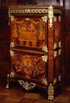 Louis XVI marquetry secrétaire à abattant signed L. Boudin