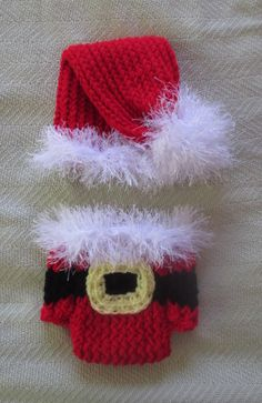 This is a handmade knitted Santa hat and diaper cover made for size newborn to 2T. This set can be worn for cold weather, everyday use, and for special occasions like Halloween, Christmas, birthdays, Easter, baby shower gifts, etc... Machine wash and dry. Different size requests are welcome, please contact me.
