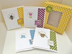 spring sampler boxed set 3x3 - Stampin' Connection Mary fish cd design. Connie Stewart. Box