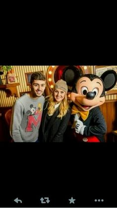 Zayn and Perrie with Mickey Mouse!!!
