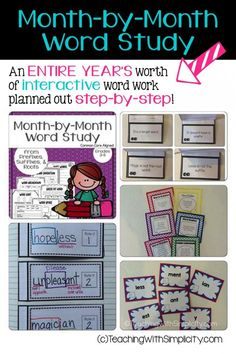 Month by Month Word Study from Prefixes, Suffixes, and Roots contains an ENTIRE YEAR'S worth of interactive word work planned out step-by-step and was created to teach The Word Work Interactive Notebook for Prefixes and Suffixes.