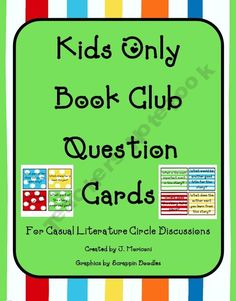 Reading Book Club Question Cards