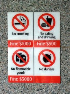 No Durians?!