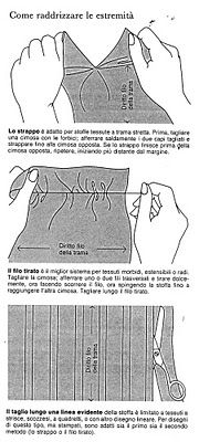 preparare il tessuto per il taglio parte prima