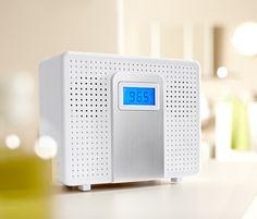 Rádio do koupelny s CD přehrávačem, chráněné proti stříkající vodě
