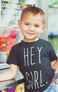Brilliant! The Gosling Toddler/Child Hey Girl Tee Screen by KindredOAK