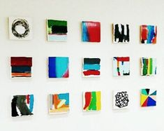 These Set of 18 Modern Scandinavian modern abstract painted wall wood cube sculptures are a perfect art statement for your home, office, corporate offices, commercial lobby, hotel, hospital or any public space. Our bold abstract art is created by using pieces of genuine solid pine wood. We skillfully paint each block with the finest acrylic medium using art knife and fine brush techniques, we leave the edges raw to give a natural organic element to each installation. We finish all of our…