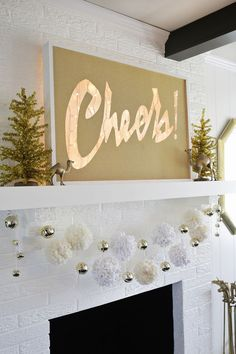 Cheers! Light box marquee DIY