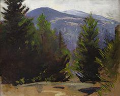 """Sketch of Monadnock Mountain,"" Abbott Handerson Thayer, 1897, oil on canvas, Detroit Institute of Arts."