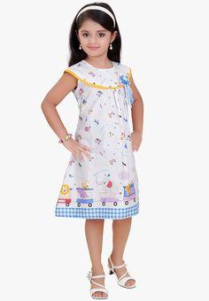 Mint Blue Casual Dress for Little Girls..