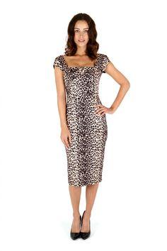 The Pretty Dress Company - Cara Dress in Original 1950s leopard Print