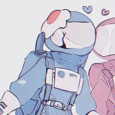 Arte Do Kawaii, Kawaii Art, Kawaii Anime, Cute Anime Profile Pictures, Matching Profile Pictures, Anime Best Friends, Anime Couples Drawings, Cute Anime Couples, Animes Wallpapers
