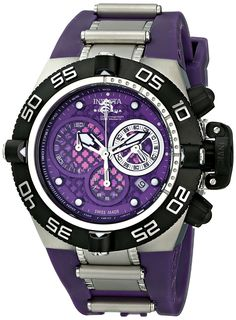 Invicta Men's 11504 Subaqua Noma IV Chronograph Purple Dial Purple Polyurethane Watch