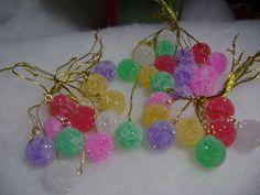 36pc Mini Sugar Coated Fake candy Gumdrop Christmas Tree Ornaments crafts