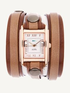 Simple. La Mer Watches: Brown Taupe Shimmer Layer Wrap.