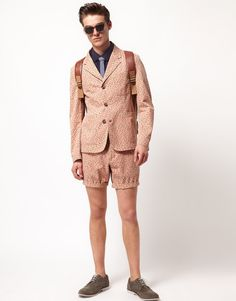Floral blazer and shorts by ASOS.
