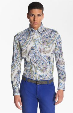 Etro 'Camicia New Ippolito' Paisley Print Cotton Shirt available at #Nordstrom
