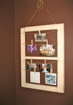 @Lisa Thompson haha saw you brainstorming for what to do with that frame...here is another option that my friend did!