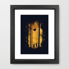 Deep in the woods Framed Art Print by Budi Satria Kwan.