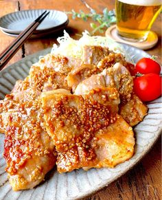 Recipe R, Some Recipe, Japanese House, Japanese Food, Pork Recipes, Asian Recipes, Pork Chops, Food And Drink, Beef