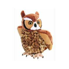 """From North to South America, weary travelers walking through the woodlands in the midst of the night will no doubt come across the sound soft """"ho-hoo-hoo"""" of the great horned #owl. #plush"""