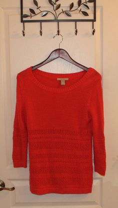 Orange 100% cotton BANANA REPUBLIC Long Sleeve cable Knit  Sweater M MINT! | Clothing, Shoes & Accessories, Women's Clothing, Sweaters | eBay!