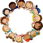 ◗ [Nulled]◛ Children In Circle White Background Baby Background Birthday Child Childhood Circle