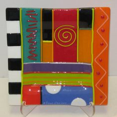 Fort Wayne Area Artists: Glass and Stacia Alexander at Orchard Gallery in July Slumped Glass, Fused Glass Plates, Fused Glass Art, Glass Dishes, Mosaic Glass, Stained Glass, Pottery Painting, Ceramic Painting, Glass Fusion Ideas