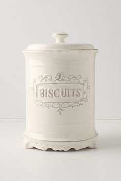 Provencal Biscuit Canister #anthropologie