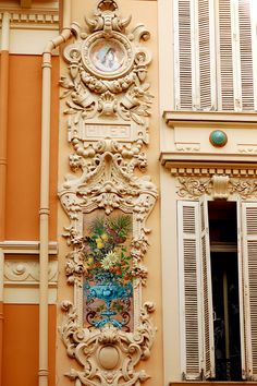 """Monaco - Moldings on a building"" by victordriggs on Flickr - Moldings on a building ~ Monte Carlo, Monaco"