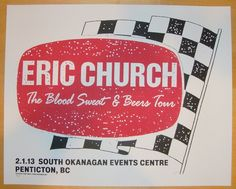 2013 Eric Church - Penticton Concert Poster by Print Mafia