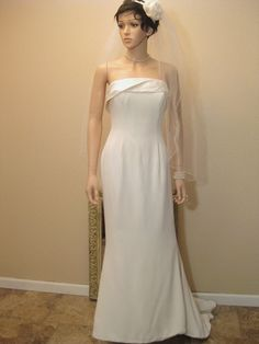 Vintage Wedding Dress. British Designer by Moxie2RunwayVintage, $699.24