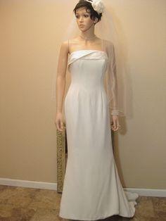 Vintage Wedding Dress. British Designer by Moxie2RunwayVintage, $699.24
