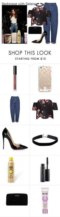 """""""Kiss the sky."""" by carla-limitededition ❤ liked on Polyvore featuring Lipstick Queen, Casetify, Boutique, WithChic, Christian Louboutin, Miss Selfridge, Sun Bum, MAC Cosmetics, Balmain and L'Oréal Paris"""