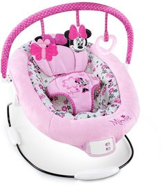 The MINNIE MOUSE Garden Delights Bouncer from Baby is EAR-resistible! Along with a Minnie-inspired fashion, you baby girl will love the soft, cradl. Minnie Mouse Bouncer, Minnie Mouse Nursery, Baby Mouse, Baby Girl Bassinet, Baby Bouncer, Disney Babys, Silicone Reborn Babies, Baby Doll Accessories, Pink Minnie