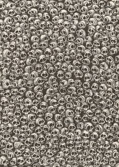 Caveiras vs Flores (Skulls vs Flowers) by Salvador Lopes Skull Wallpaper, Pattern Wallpaper, Star Wallpaper, Memento Mori, Grafiti, Airbrush Art, Skull And Bones, Skull Art, Textures Patterns